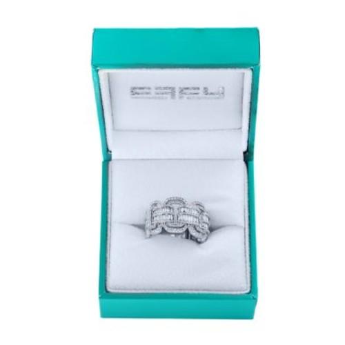 Effy - Super Buy 14K White Gold and Diamond Link Ring
