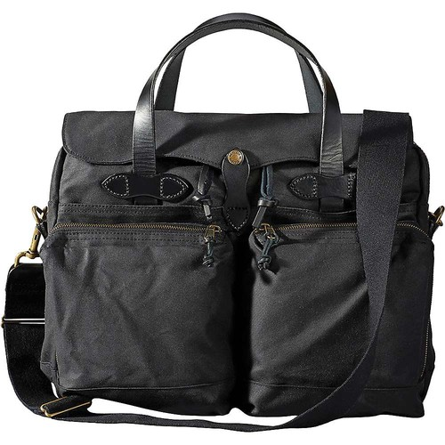 Filson 24 Hour Tin Cloth Briefcase in Black
