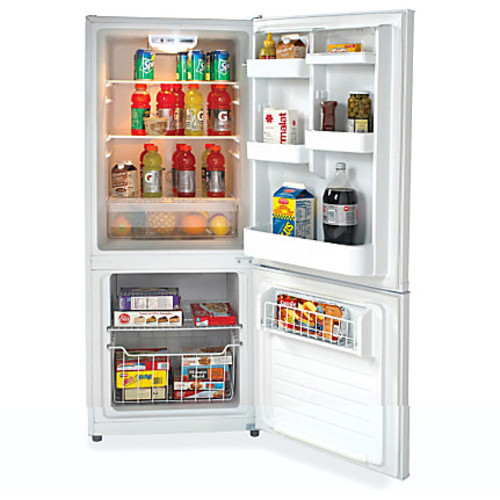 Avanti 9.2CF Refrigerator - 10.20 ft - No-frost - Reversible - 7.10 ft Net Refrigerator Capacity - 3.10 ft Net Freezer Capacity - 120 V AC - 370 kWh per Year - White - Glass
