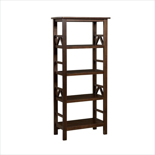 Linon - Linon Titian Bookcase in Antique Tobacco - Cherry