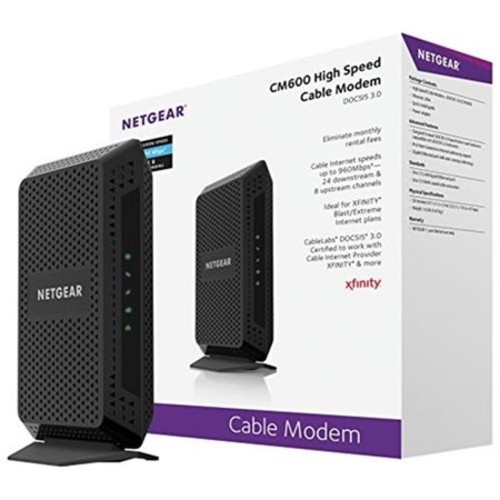 NETGEAR DOCSIS 3.0 High Speed Cable Modem Certified for XFINITY from Comcast Time Warner Cable - CM600-100NAS-d8de831520a5b40c