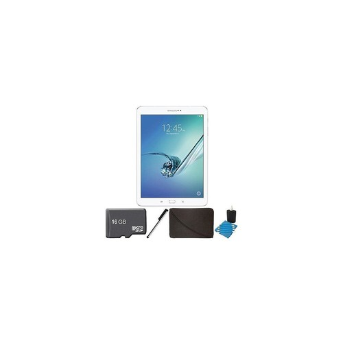 Samsung Galaxy Tab S2 9.7-inch Wi-Fi Tablet (White/32GB) SM-T810NZWEXAR 16GB MicroSD Card Bundle includes Galaxy Tab S2,