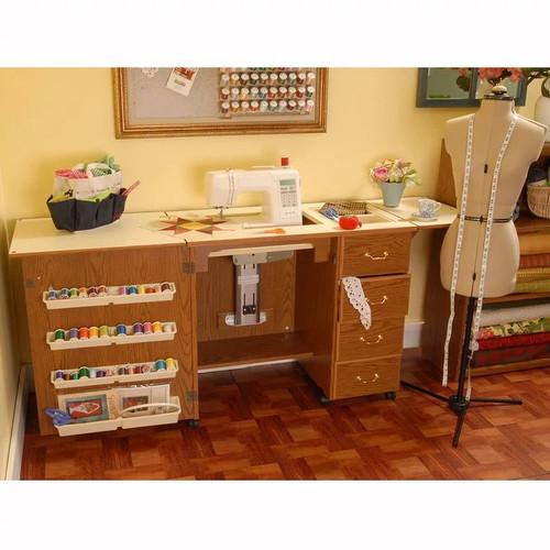 Arrow Norma Jean Model 350 Sewing Cabinet In Oak Color