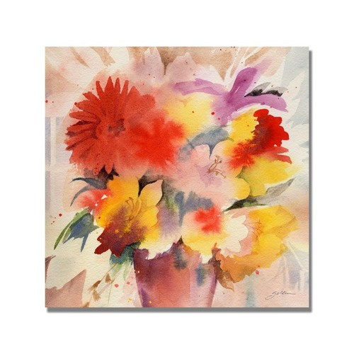 Trademark Global Sheila Golden 'Bouquet' Canvas Art [Overall Dimensions : 24x24]