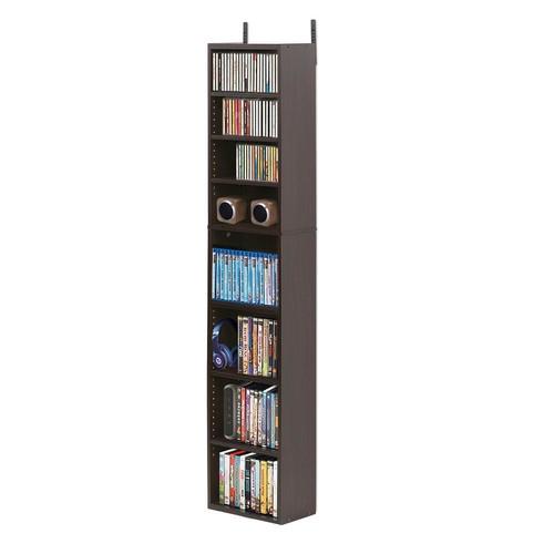 Furinno Indo Espresso 8-Tier Media Tower