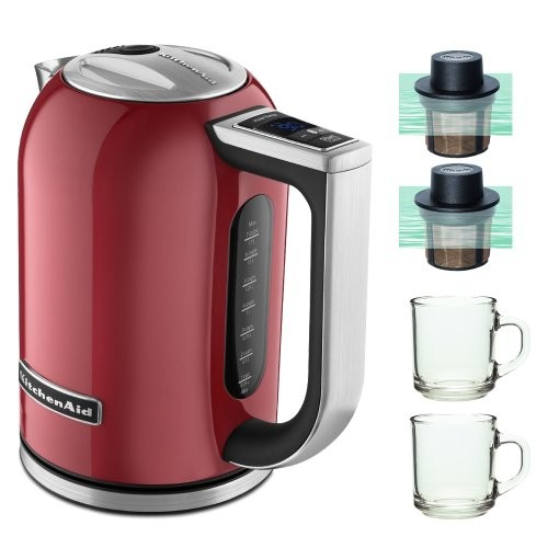 KitchenAid KEK1722ER 1.7-Liter Electric Kettle with LED Display - Empire Red [Empire Red]