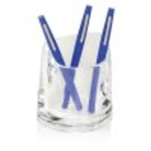 Swingline Stratus Acrylic Pen Cup, 4 1/4