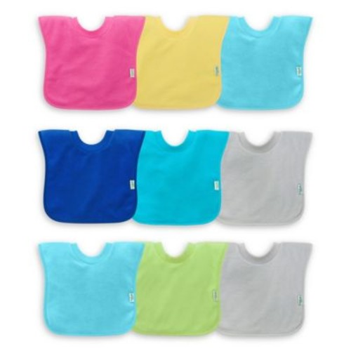 green sprouts by i play 3-Pack Pull-Over Stay-Dry Bibs in Pink