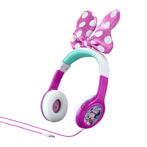 Minnie Mouse Headphones for Kids with Built in Volume Limiting Feature for Kid Friendly Safe Listening [Minnie Mouse, Girl]
