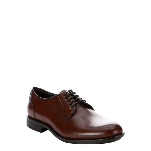 brown leather casual oxfords
