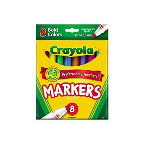 Crayola 8ct Broad Markers Bold [1 Pack]
