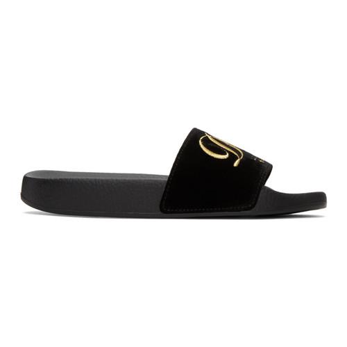 Black Velvet 'Luxury Hotel' Sandals