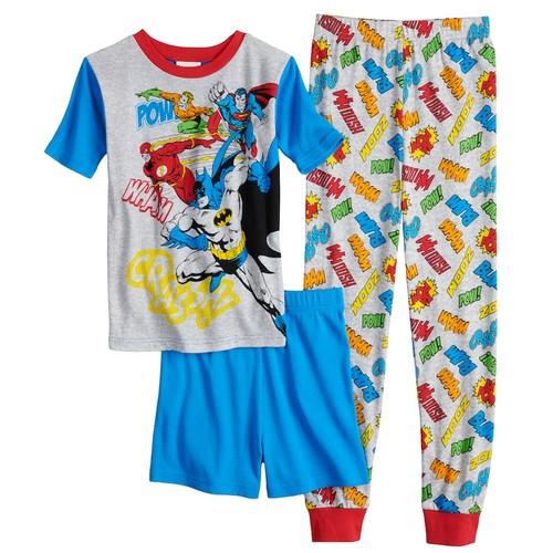 Boys 4-10 Justice League 3-Piece Pajama Set