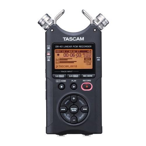 TASCAM DR-40 4-Track Portable Digital Recorder [Black]