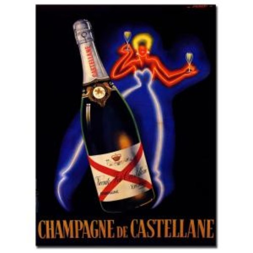 Trademark Fine Art 18 in. x 24 in. Champagne de Castellane by Robert Falcucci Canvas Art