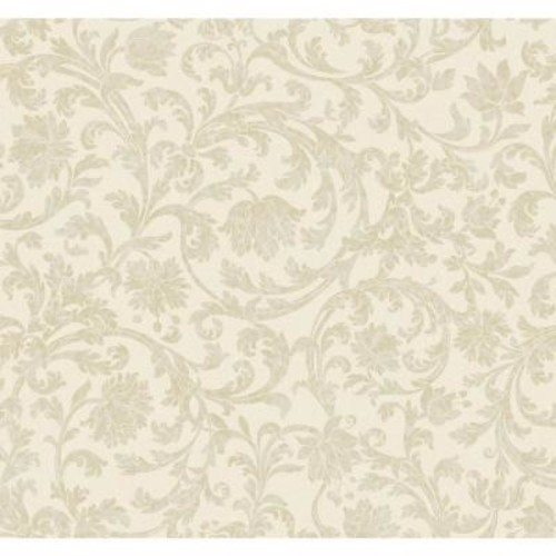 York Wallcoverings Inspired By Color Beige Text Scroll Wallpaper