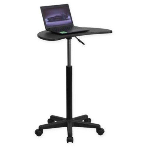 Flash Furniture Mobile Laptop Computer Desk in Black