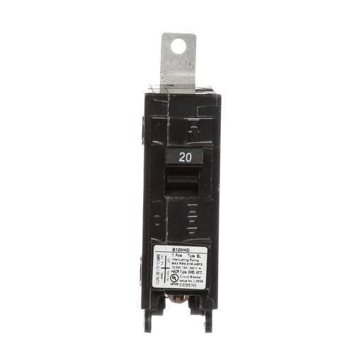 Siemens 20 Amp Single-Pole Molded Case Circuit Breaker Type HID BL