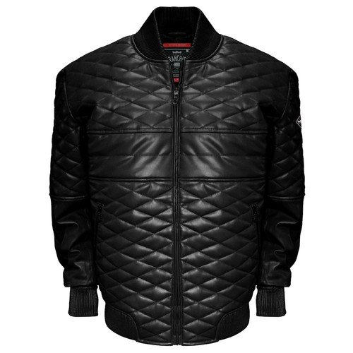 Men's Franchise Club Double Diamond Lambskin Leather Bomber Jacket