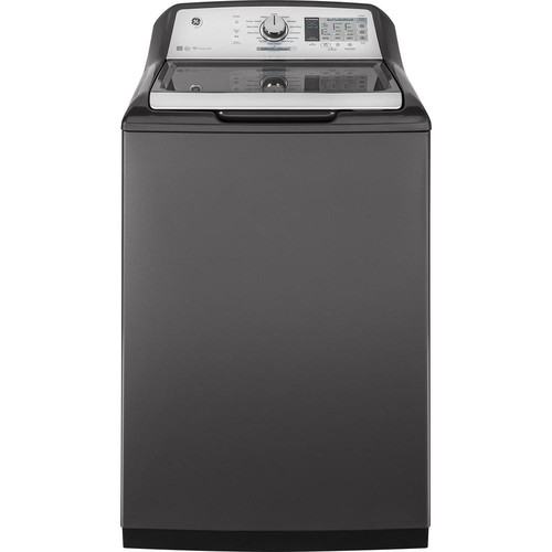 GE 5.0 cu. ft. Smart High-Efficiency Top Load Washer with Wi-Fi in Diamond Gray, ENERGY STAR