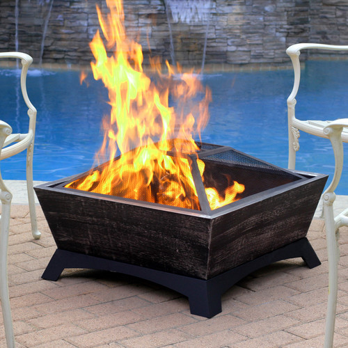 Jeco Inc. Hudson Steel Wood Burning Fire pit