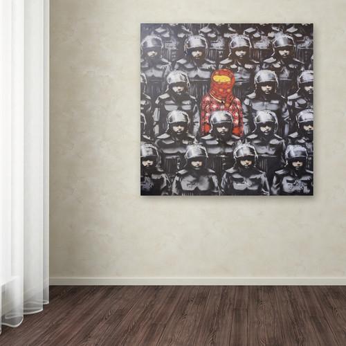 Banksy '24th Street 2' 26x26 Canvas Wall Art