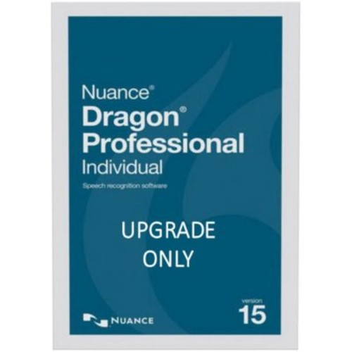 Nuance Dragon Pro Individual V.15 Upgrade Software from Pro 13 or 14,1 User, Win, DVD (K889A-RD7-15.0)