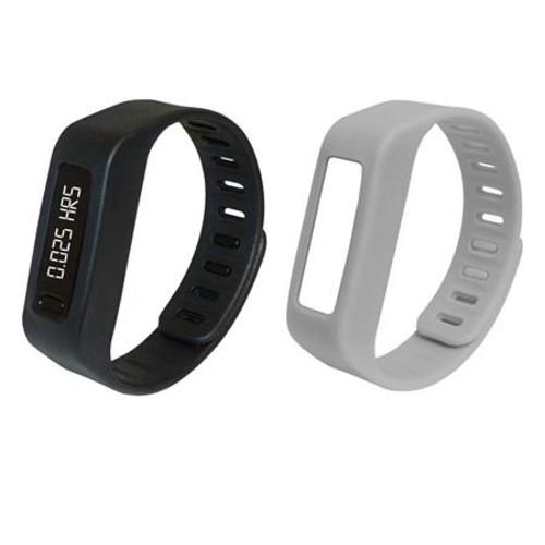 Naxa NSW-11 LifeForce+ Fitness Watch, Black and Gray Bands NSW-11GR