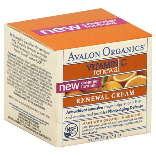 Avalon Organics Vitamin C Renewal Renewal Cream, 2 oz (57 g)
