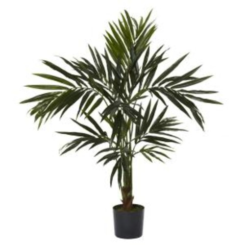 Nearly Natural 5 ft. Green Kentia Silk Tree