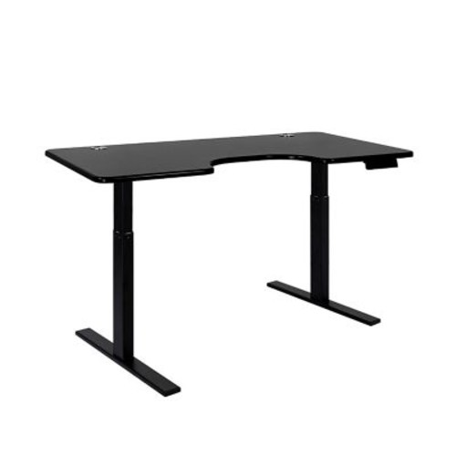 SmartDesk Standing Desk with Electric Adjustable Height - Black Frame and Black Ergo Top