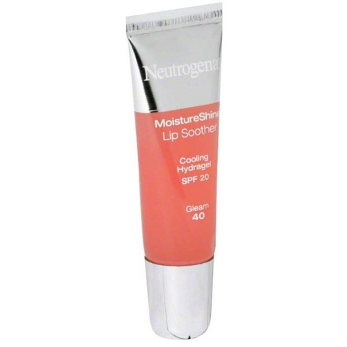 Neutrogena MoistureShine Lip Soother, SPF 20, Gleam 40, 0.35 oz (10 g)