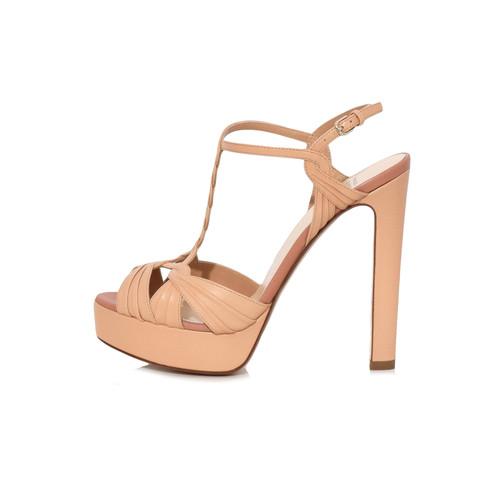 Platform Sandal in Nude
