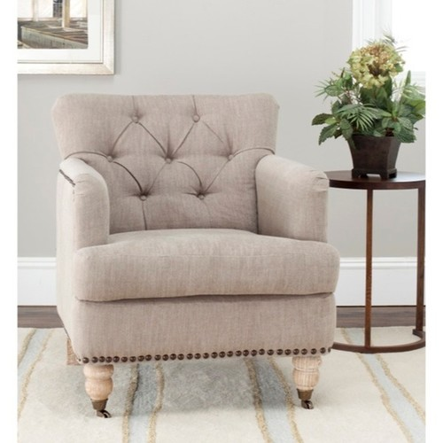 Safavieh Manchester Taupe Tufted Club Chair