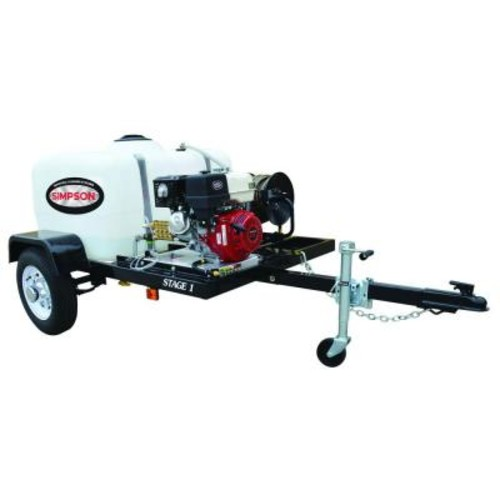 Simpson 4,200 psi 4.0 GPM Gas Pressure Washer Trailer System with Electric Start