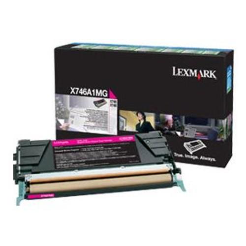 Lexmark Magenta Original Toner Cartridge - LCCP, LRP, For X746de, 748de, 748dte Printers - X746A1MG