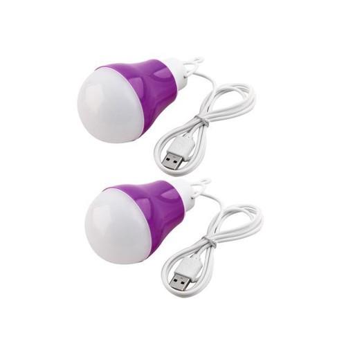 DC3-12V 5w Night Light Camping Emergence Lamp Power USB Cable Bulb Purple