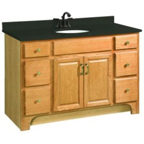 Design House Richland 48 in. W x 21 in. D Unassembled Vanity Cabinet Only in Nutmeg Oak