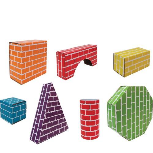 Edushape Corrugated Shapes- 45 Pieces