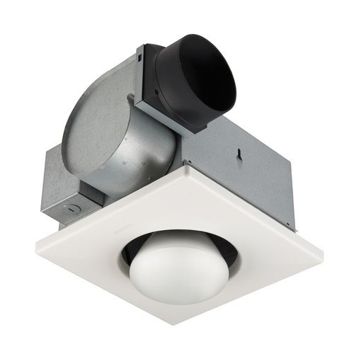 NuTone 9417DN 70 CFM 3.5 Sone Ceiling Mounted HVI Certified Bath Fan with Heating Light