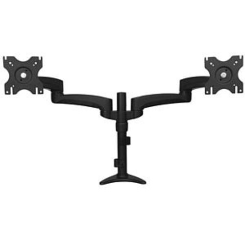 StarTech Articulating Dual Monitor Arm - Grommet or Desk Mount, Supports 12 to 24 Display, Up to 30 lbs. Per Arm, 75mm & 100mm VESA Compatible, Adjustable Height, Swivel & Pivot, Black  ARMDUAL