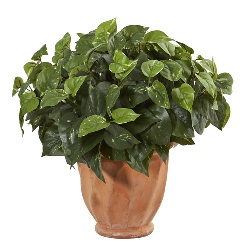 Nearly Natural Pothos Artificial Plant in Terracotta Planter