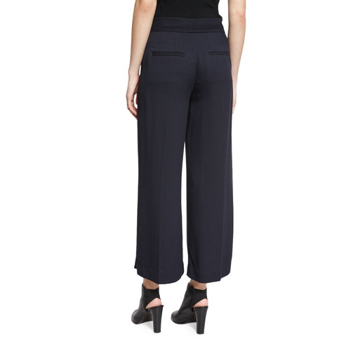 A.L.C. Emily Belted Gaucho Pants, Navy