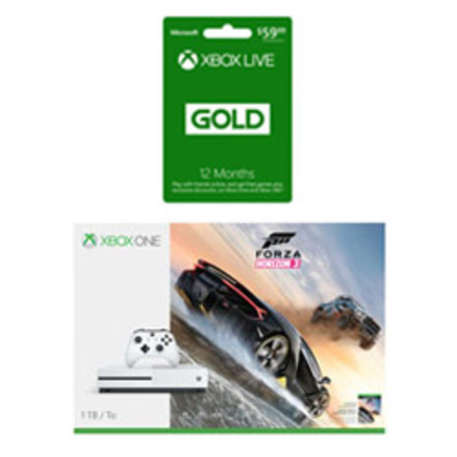 Xbox One S Forza Horizon 3 1TB Console and 12-Month Xbox Live Gold Membership