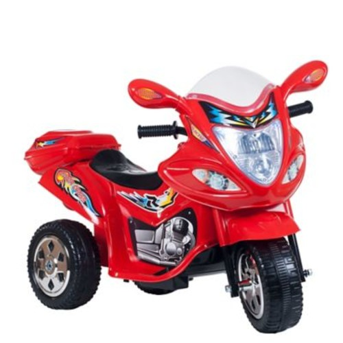 Lil Rider Motorized Ride on Three Wheel Motorcycle Trike, Red
