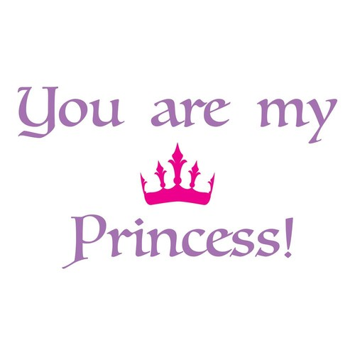 Brewster 26.4 in. x 18.5 in. Princess Wall Decal