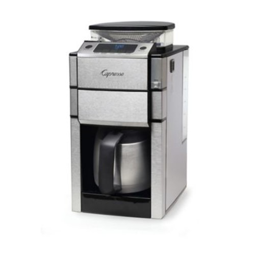 Capresso Coffee TEAM PRO Plus 10-Cup Thermal Coffee Maker and Grinder in Stainless Steel