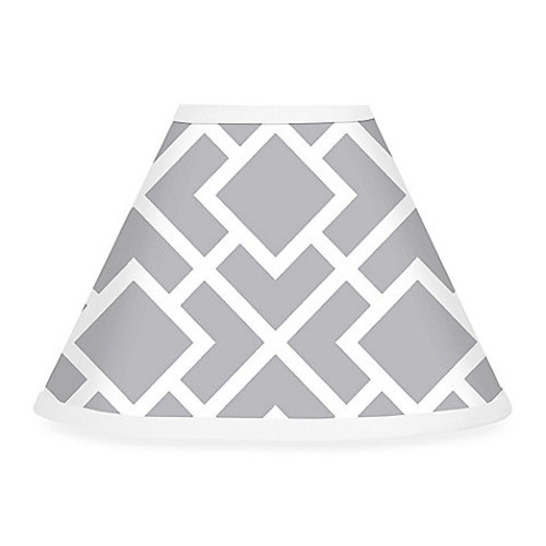 Sweet Jojo Designs Diamond Lamp Shade in Grey/White