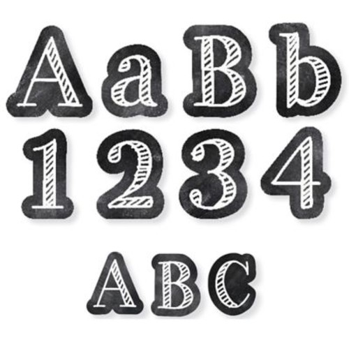 Creative Teaching Press Chalk It Up! Letters Pack: 4