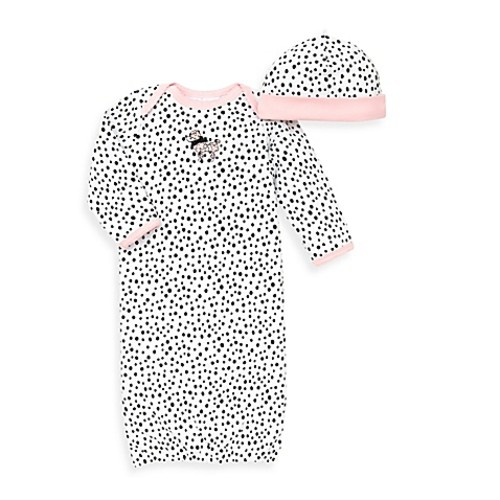 Little Me 2-Piece Perfect Poodle Long Sleeve Gown and Hat Set